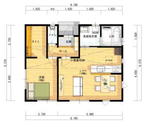 平屋プラン1階-平面図