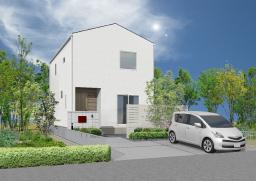 北長瀬駅徒歩5分の場所に、白い外壁がきれいな 北長瀬モデルハウスⅠが完成 初公開